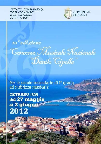 Concorso Musicale Danilo Cipolla: decima edizione - Regolamento