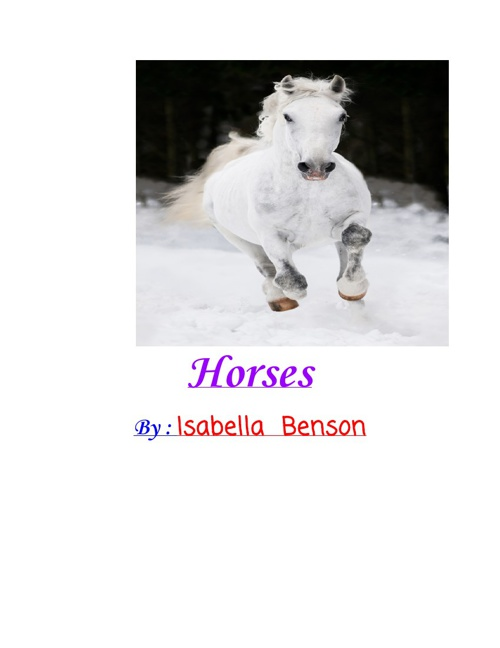 Horses By Isabella