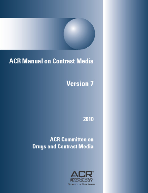 ACR Manual on Contrast Media