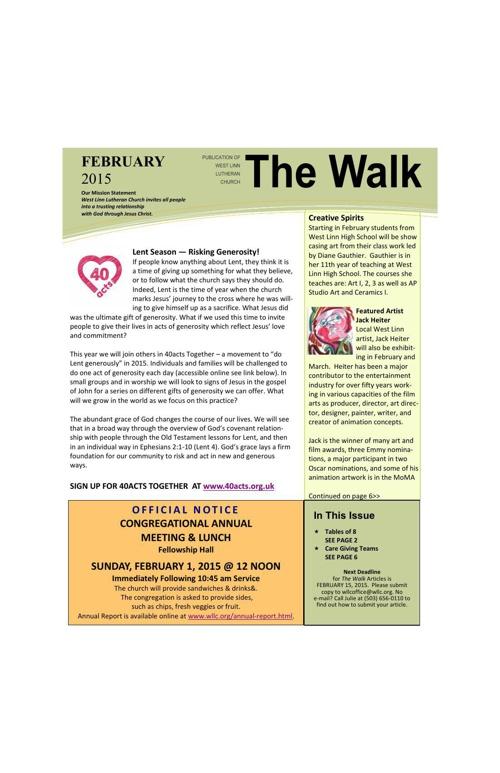 FEBRUARY 2015_the walk