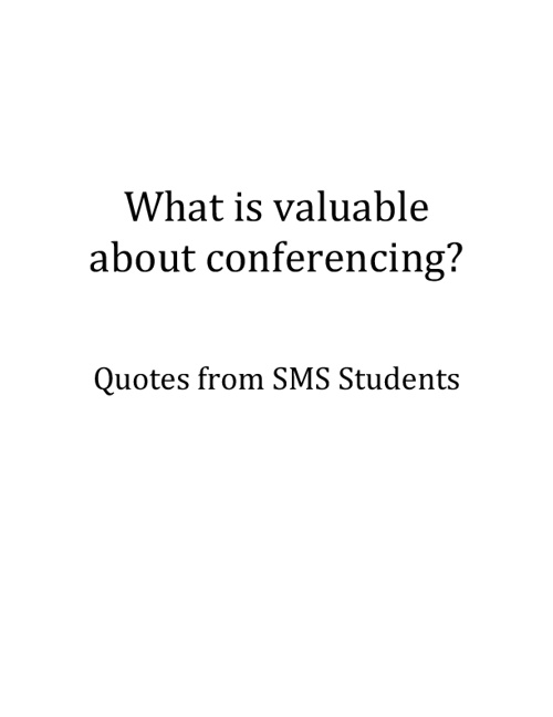 Student Conference Quotes
