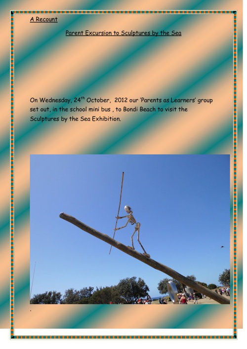 MY day out to bondi beach to see the sculptures by the sea