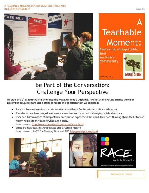 A Teachable Moment February 2014