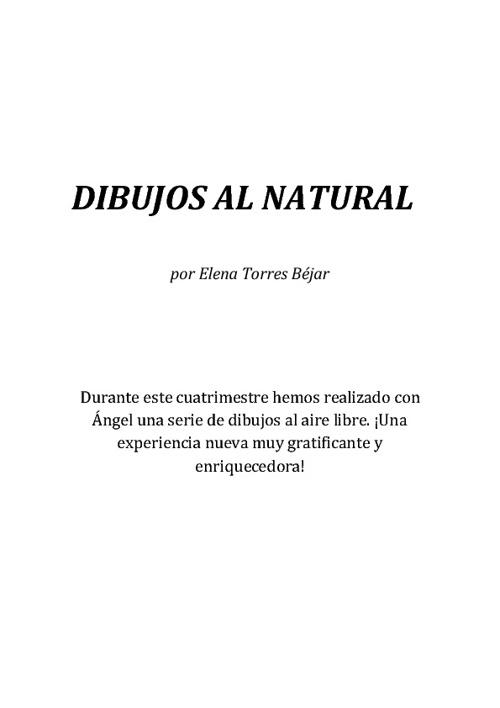 DIBUJOS AL NATURAL