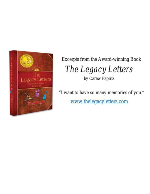 Excerpts from Award-winning--The Legacy Letters by Carew