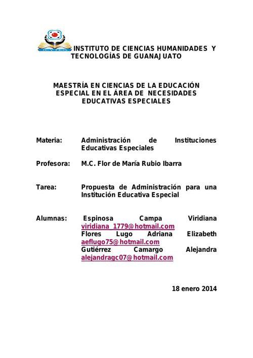 propuesta de administracion TRABAJO FINAL