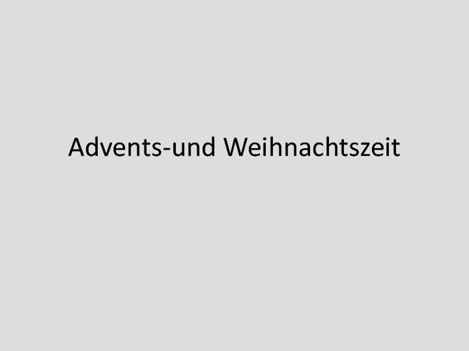German Christmas Vocabulary