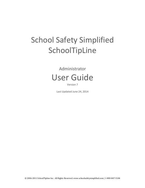 SchoolSafetySimplied User Guide version 7 (121027)