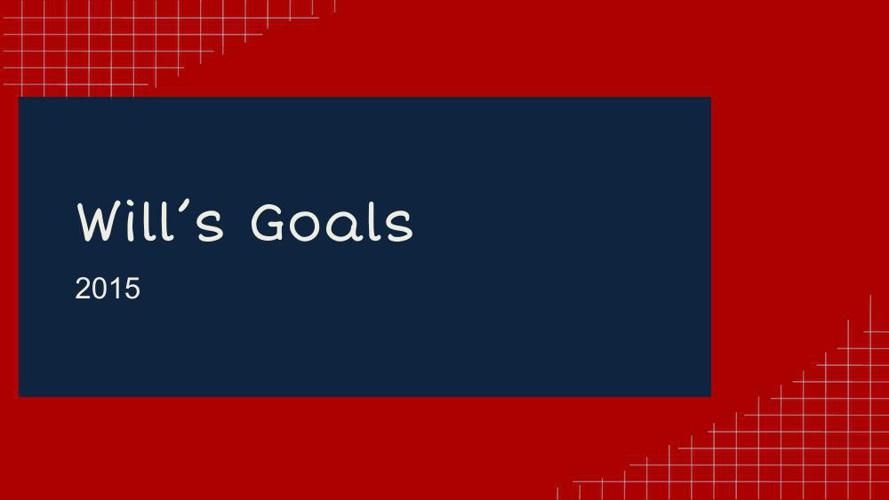 Goal Setting 2015 William Spencer (1)