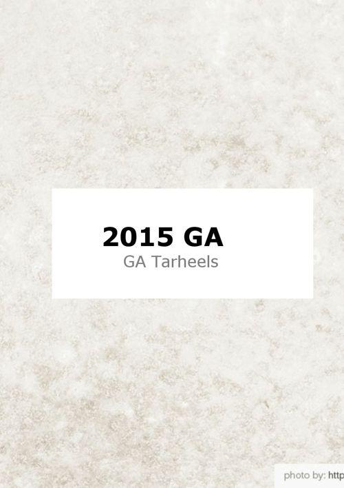 2015 GA Tarheel Classic Results