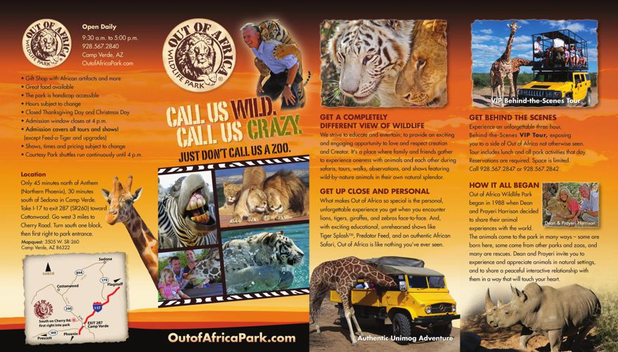 Out of Africa Park Brochure