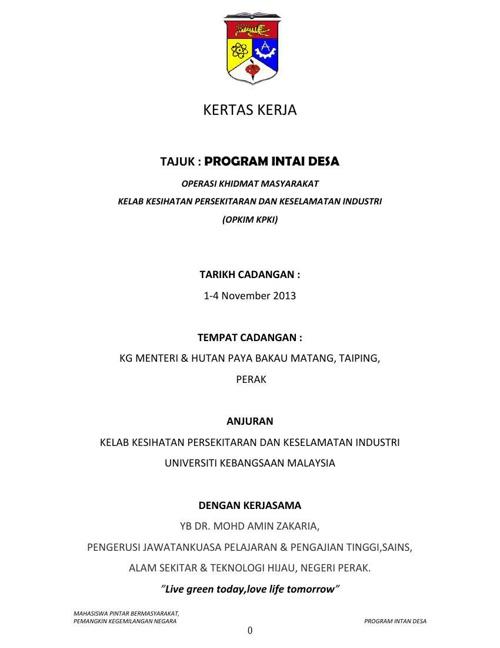 Dokumen Pembuktian Program Intai Desa