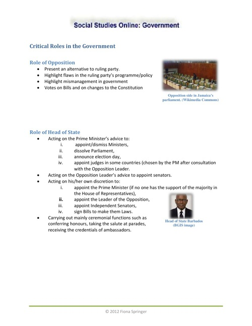 Critical Roles in Government
