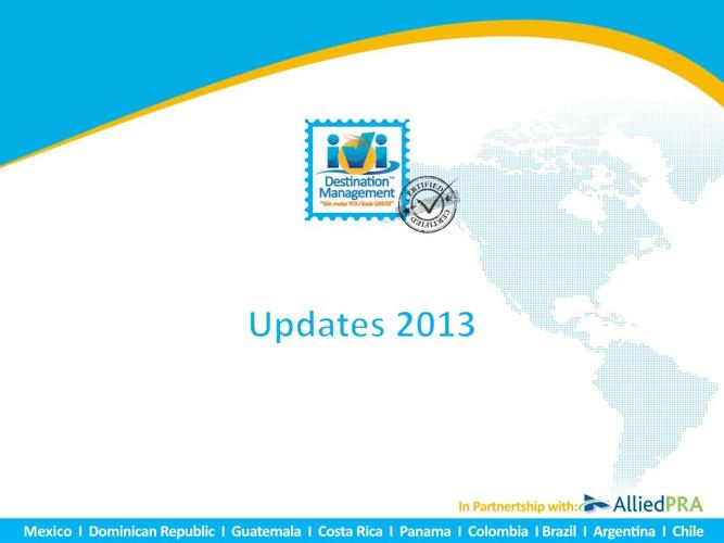 Destination Updates 2013