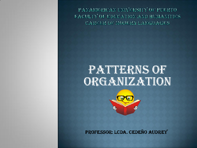 Patterns of Organization: Overview