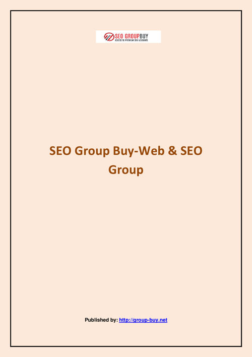 SEO Group Buy-Web & SEO Group