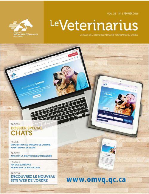 Le Veterinarius Février 2016 vol 31 No1
