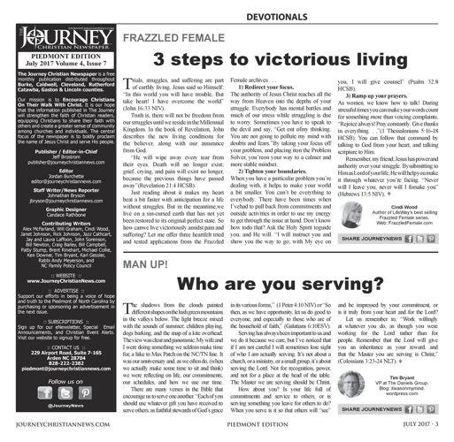 Journey PIEDMONT July 2017 Issue