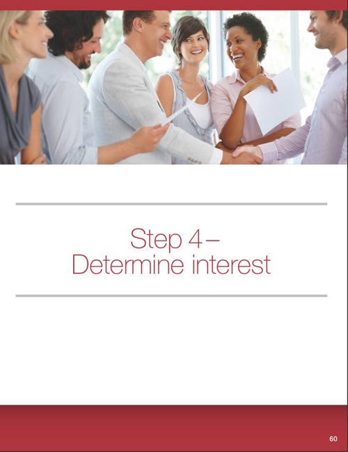 Step 4 - Determine Interest