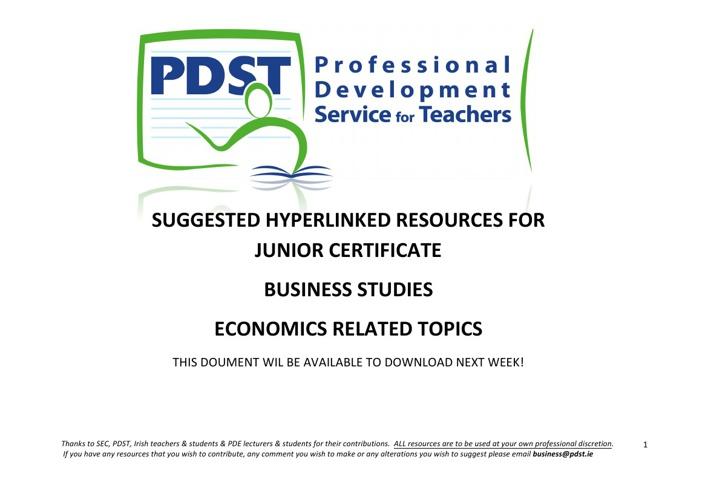 Junior Economics