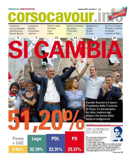 Corsocavour.info periodico del PD di Pavia: giugno