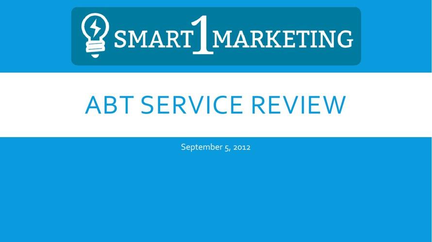 ABT Service Recap