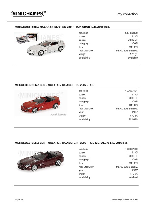 My wishlist Minichamps