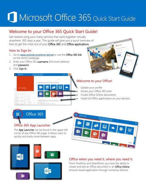 O365 QuickStart Handout