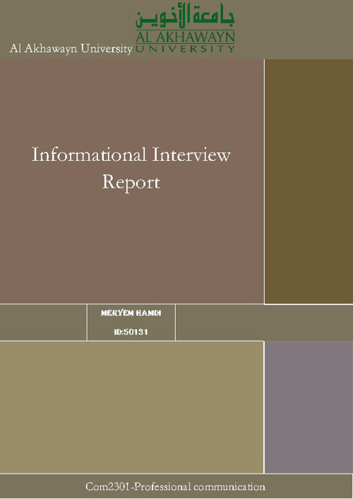 Informational report Interview