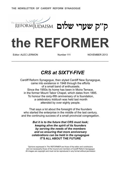 The Reformer November 2013