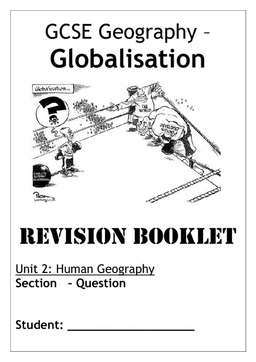 Globalisation - Revision Booklet