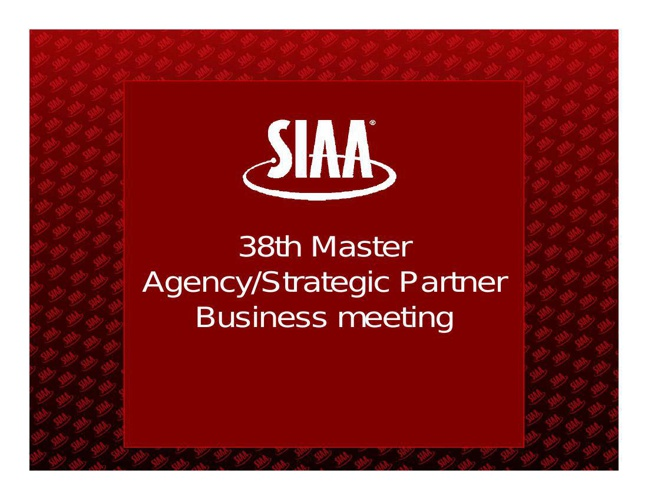 SIAA October|2014 Post Meeting eBook