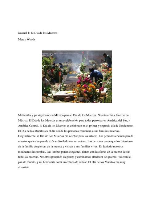 Mercy: Mi Diario Español