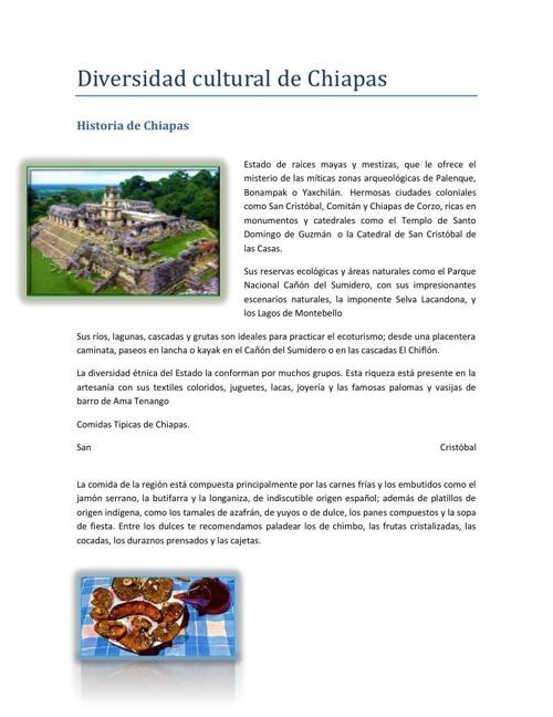 Diversidad cultural de Chiapas