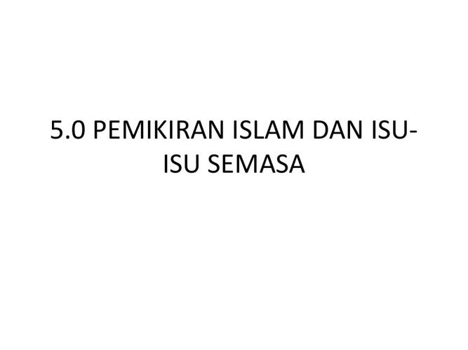 Nota AK 401-Tamadun Islam Khas