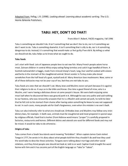 Tabus: Hey, don't do that!