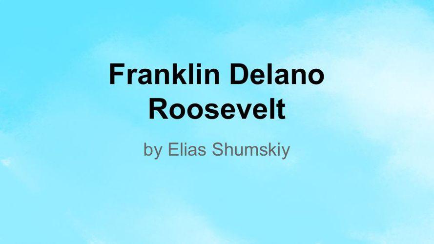 Biography Flipbook Template - Elias Shumskiy
