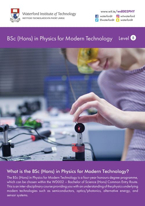 WIT BSc (Hons) in Physics for Modern Tech. 2018 Flyer V2 (3)