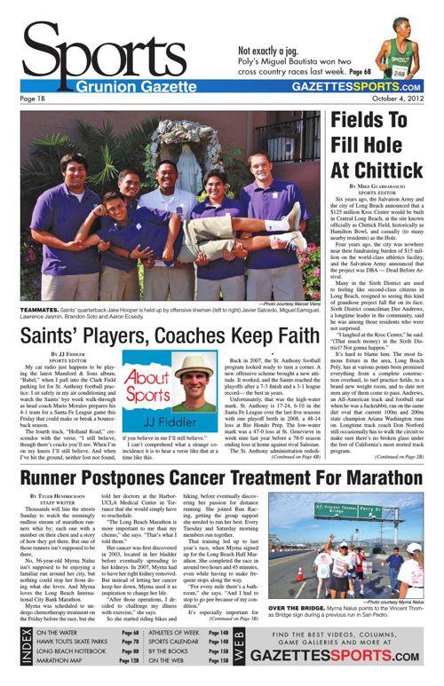 Gazette Sports | October 4, 2012