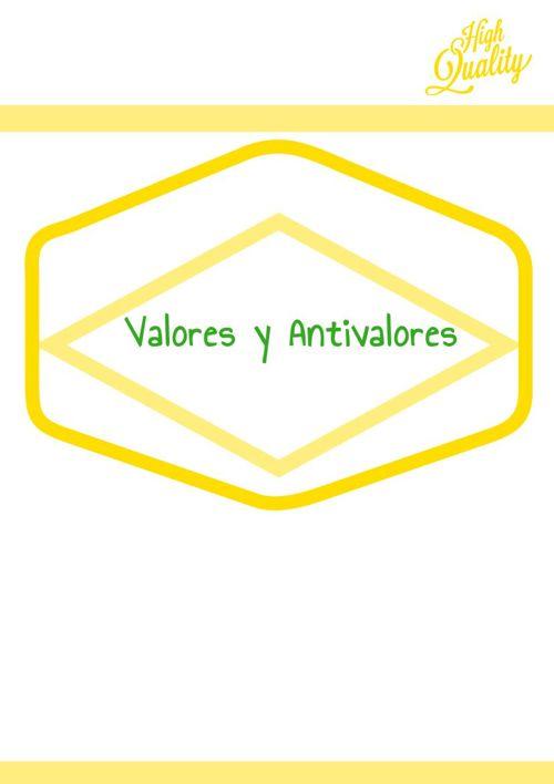 Valores y antivalores Diseño/ Lengua y Literatura