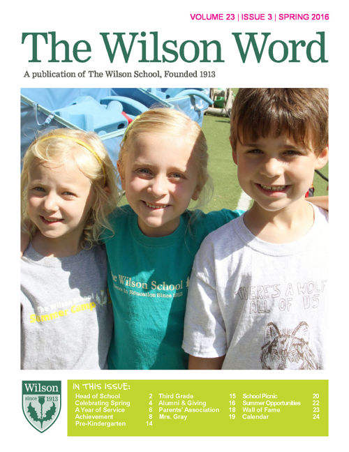 2015-16 Vol. 3 Spring Wilson Word