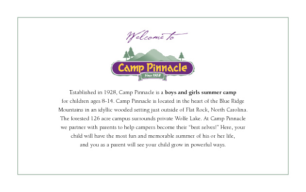 Camp Pinnacle Flipbook