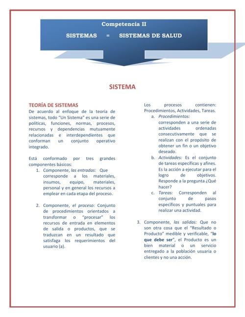 Competencia II, tema No. 1