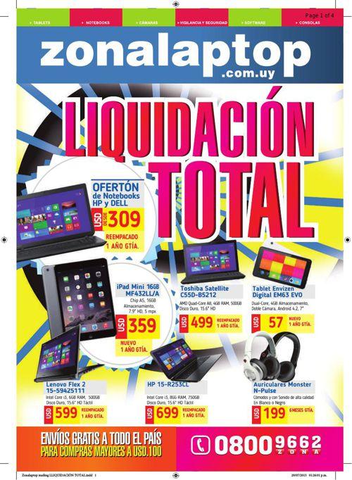 Liquidación Total Zona Laptop