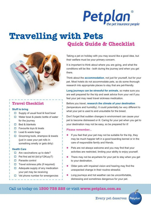 Travelling With Pets - Quick Guide & Checklist