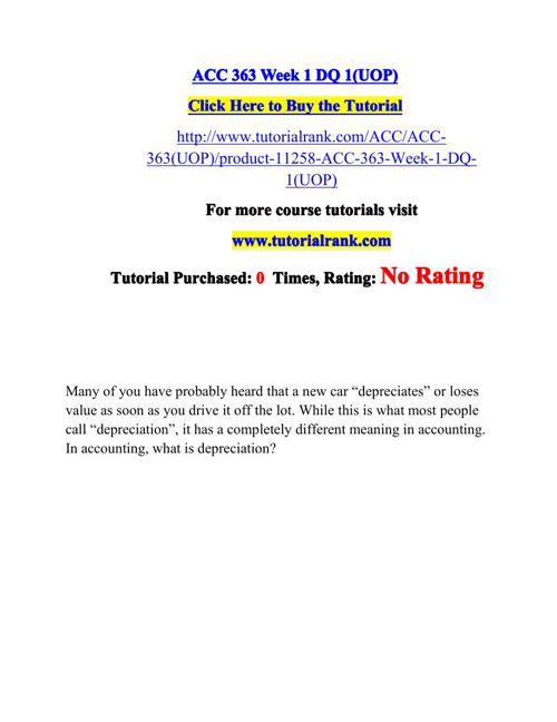 ACC 363 Potential Instructors / tutorialrank.com