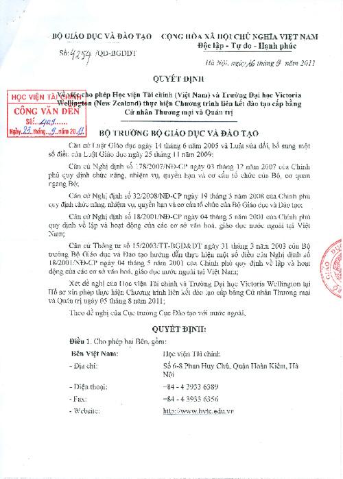Bo GDĐT cap phep trien khai chuong trinh BCA