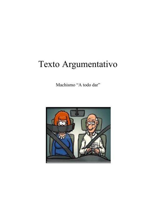 Texto argumantativo Machismo