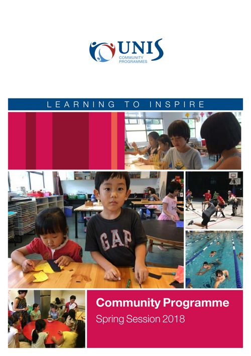 Community Programmes Brochure Spring Session 2018