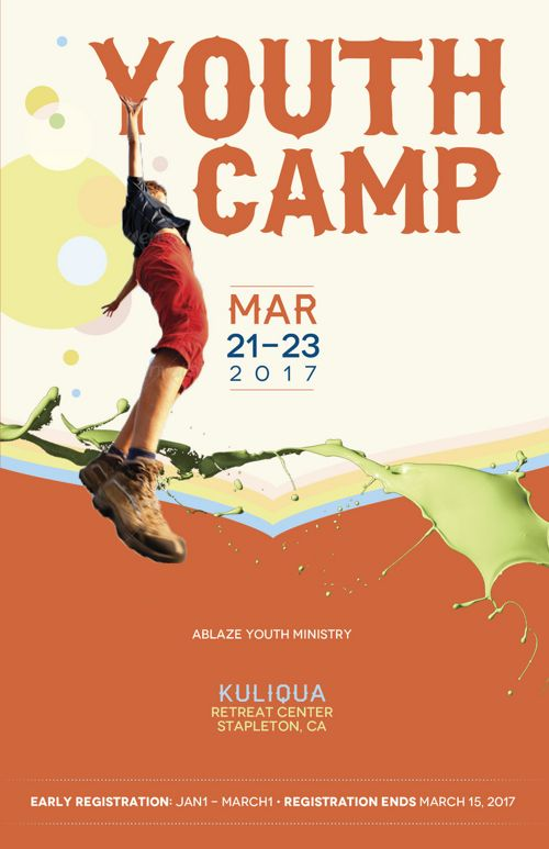 Youth Camp Brochure Template